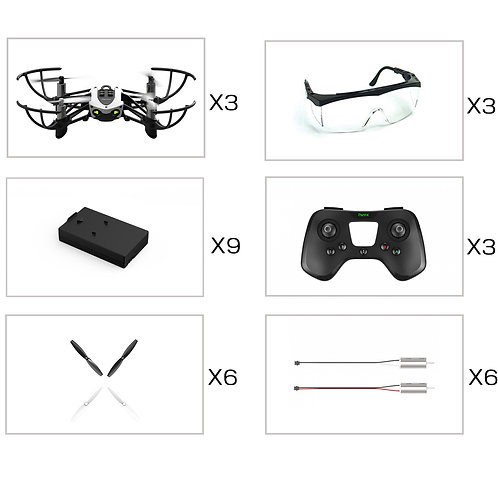 3 Pack REC Competition Drones