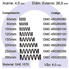 Mola compressão - arame 4,50