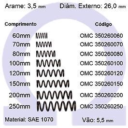 Mola compressão - arame 3,50