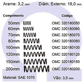 Mola compressão - arame 3,20