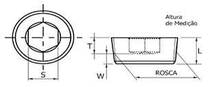 Bujão DIN 906 BSP e Métrica