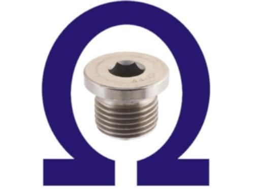 Bujão DIN 908 3/8 BSP INOX (kit 10 pçs)