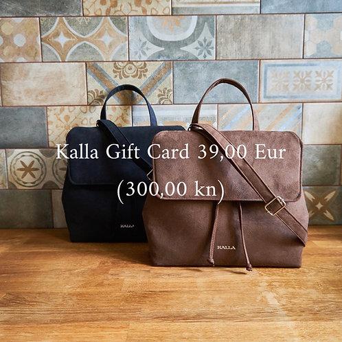 Kalla Gift Card 300,00 kn (39 Eur)