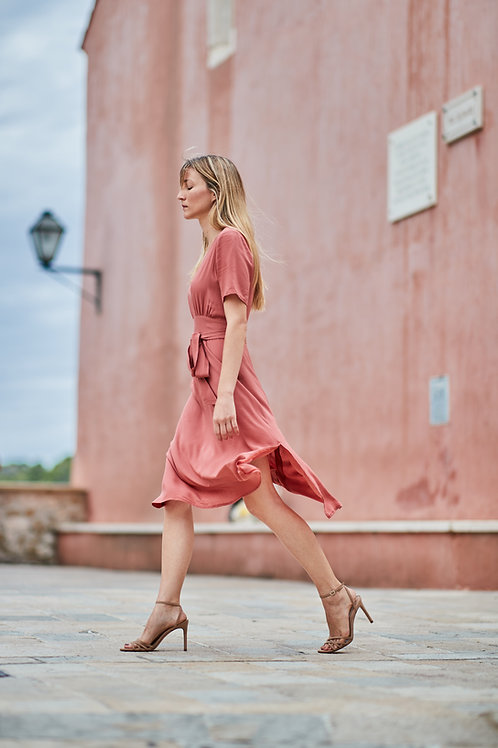 Kalla Dress in Coral (5-of-a-kind in sizes)