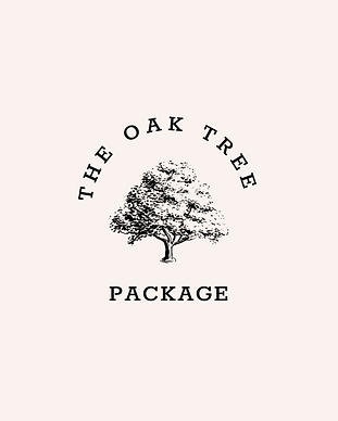 Black Natural Botanical Oak Tree Logo .p