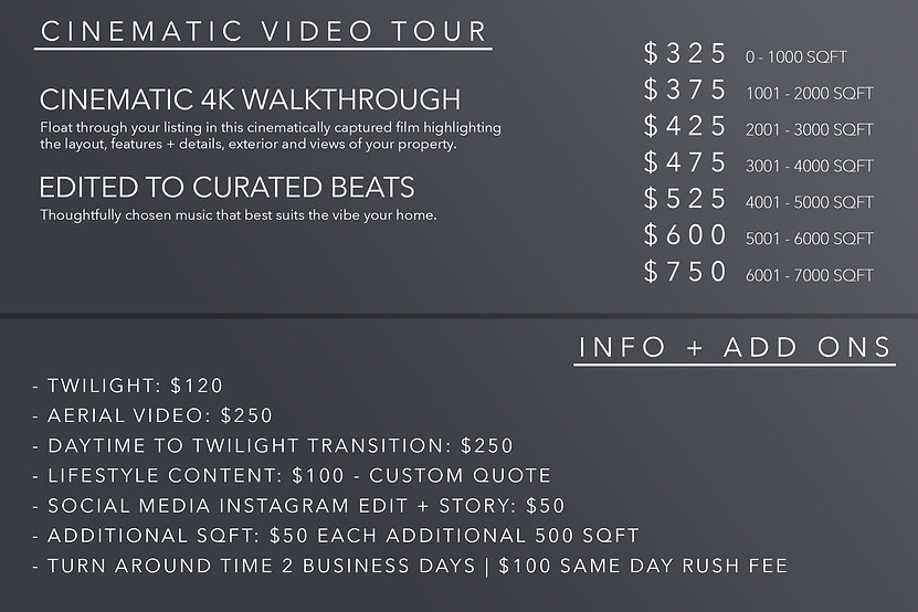 Video Pricing