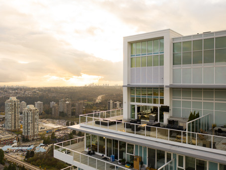 Coquitlam Penthouse Condo Shot at Twilight by Vancouver Real Estate Photographer