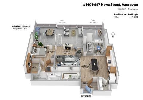 Vancouver 3D Floor Plan