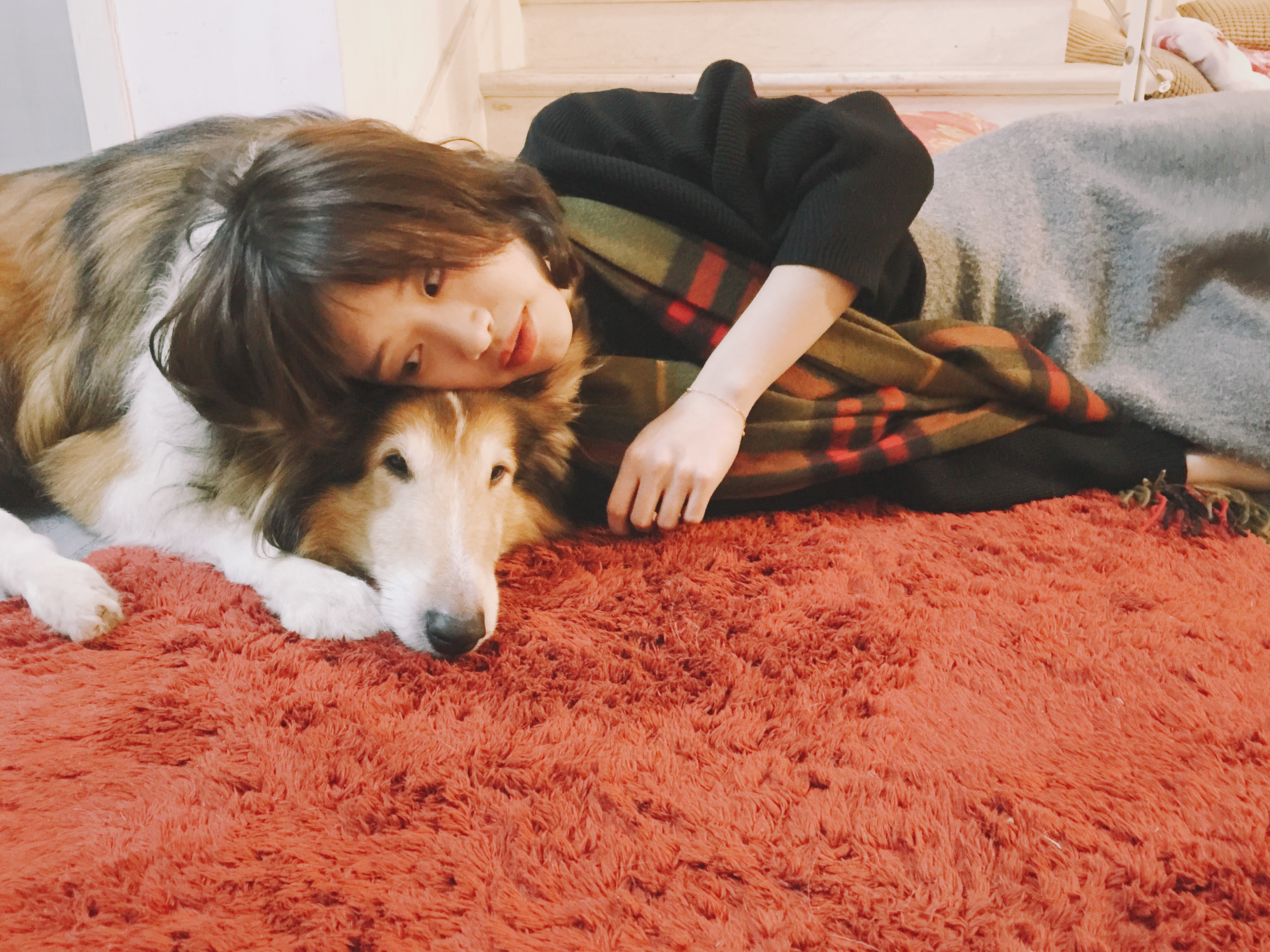 Zoe and her collie, Jan. 2017