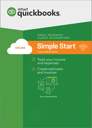 QuickBooks Online Simple Start Monthly Subscription