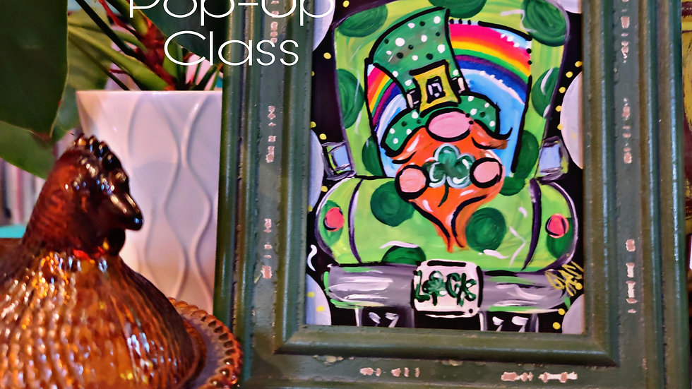 St. Patrick's Day Gnome  Truck Pop-Up Class