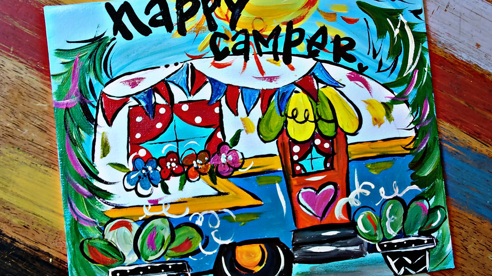 Happy Camper Pop-Up Painting Class With Art In Pajamas
