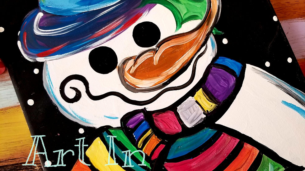 January Colorful Snowman Pop-up Painting Class