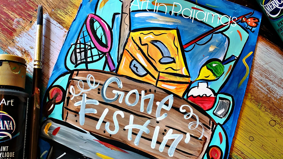 Gone Fishin' 🎣  Truck Art In Pajamas Pop-Up Class