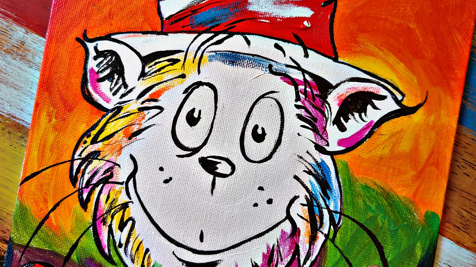 Read Across America Cat Pop-Up Painting Class