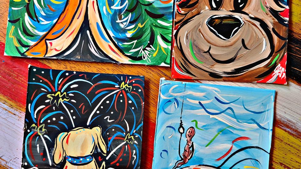 June Art In Pajamas Kids/Beginner Painters Class Club