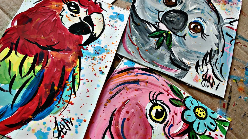 July Pajamas Kids/Beginner Painters Cass Club