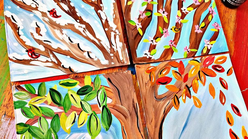 January Kids/beginner Painters Class Painting Club Membership