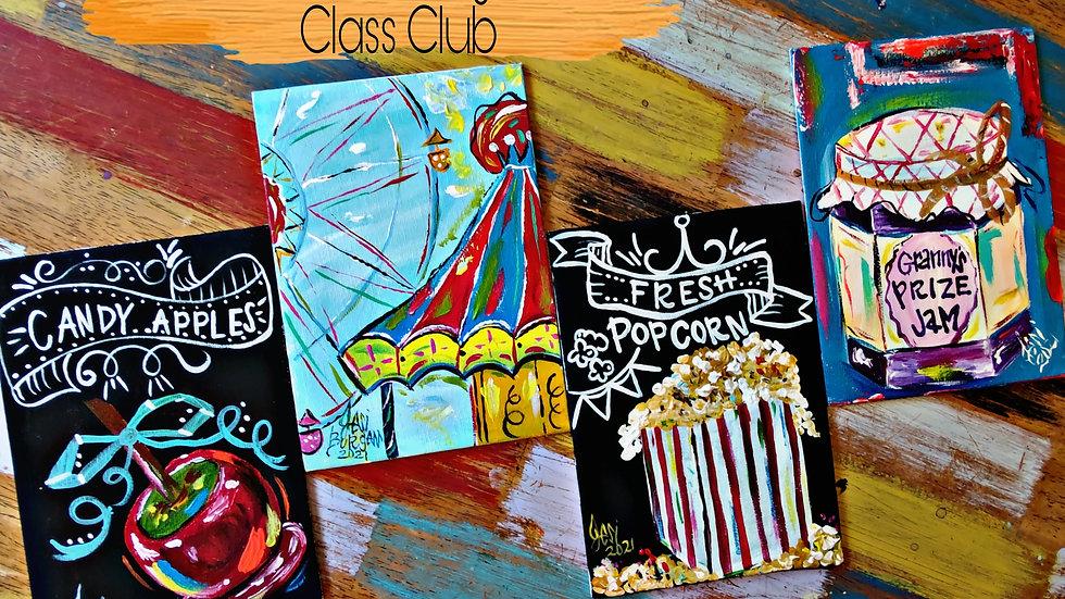 August County Fair Art In Pajamas Adult Painters Club Membership