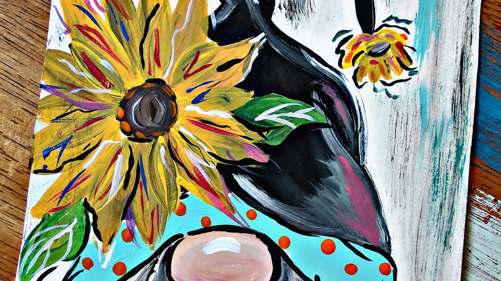 Gnome And Sunflower Art In Pajamas Pop-Up Class