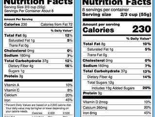 When Will the New Nutrition Labels Go into Effect?