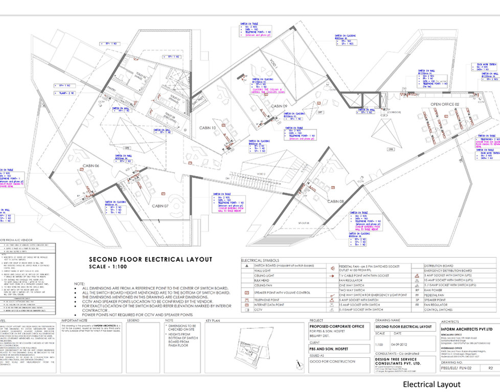 Electrical layout (by INFORM Architects, India)