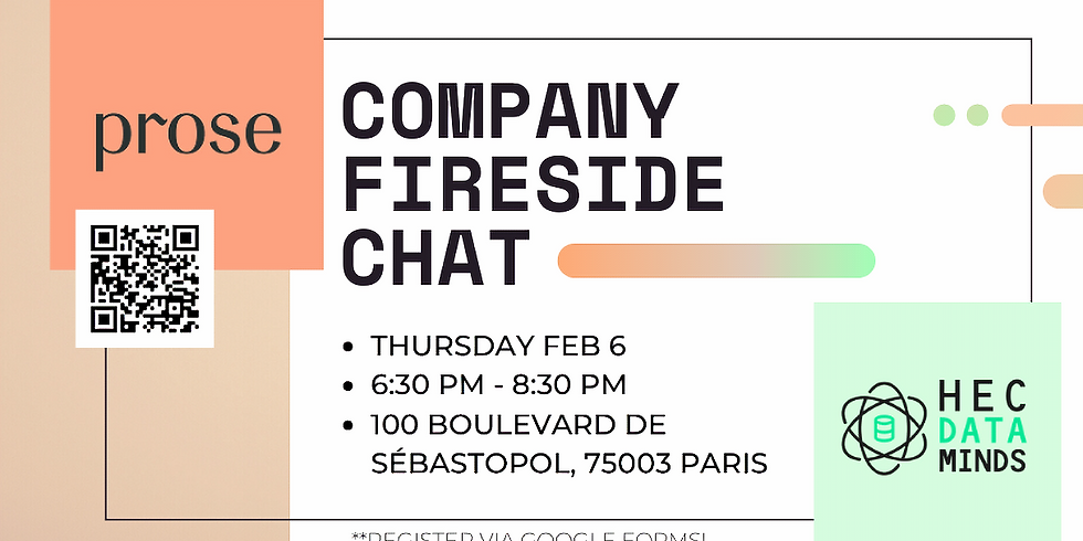 HEC Data Minds x Prose Company Fireside Chat