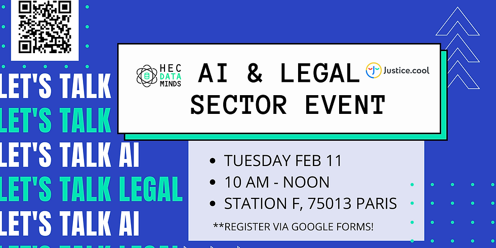 HEC Data Minds x Justice.cool : AI & Legal Sector Event