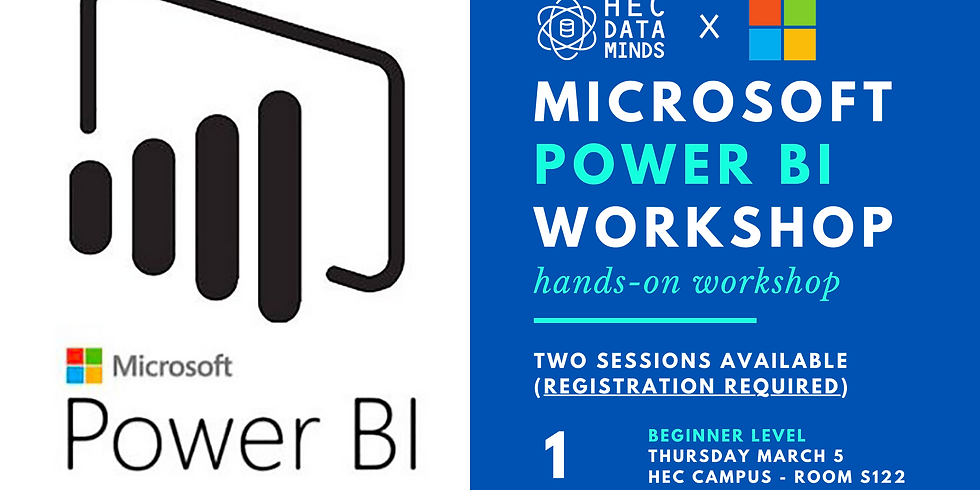 HEC DATA MINDS x Microsoft Power BI Workshops - March 5 & March 17