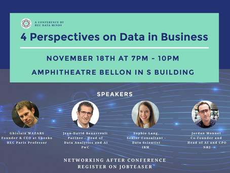 Conference : 4 Perspectives on Data in Business – 18.11.2019