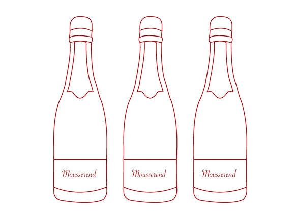 Bruis 3 flessen