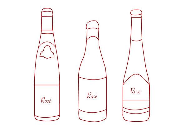 Rosé 3 flessen