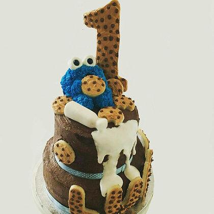 Custom Cookie Monster Cake