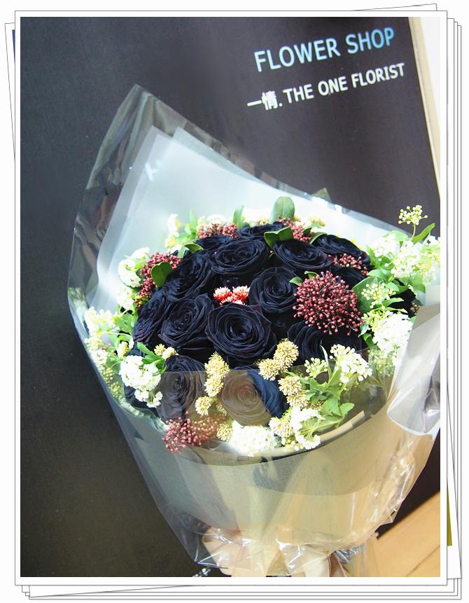 20枝荷蘭黑玫瑰花束 訂花花店(BQ-70)