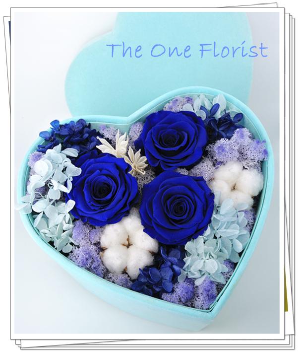 心形保鮮花花盒 JU-06