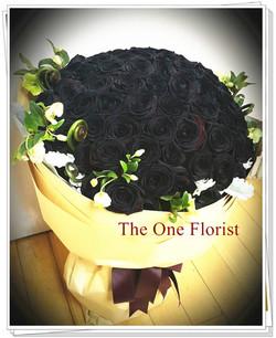 99枝荷蘭大頭黑玫瑰求婚花束 (BQ-90)