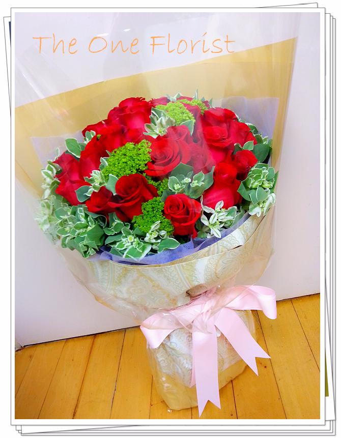 30枝紅玫瑰花束 網上花店 (BQ-43)