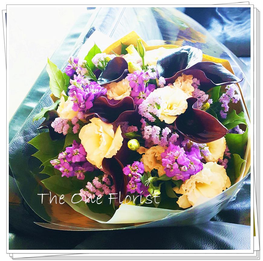 荷蘭10枝紫黑色馬蹄蘭花花束 花店訂花 (BQ-78)