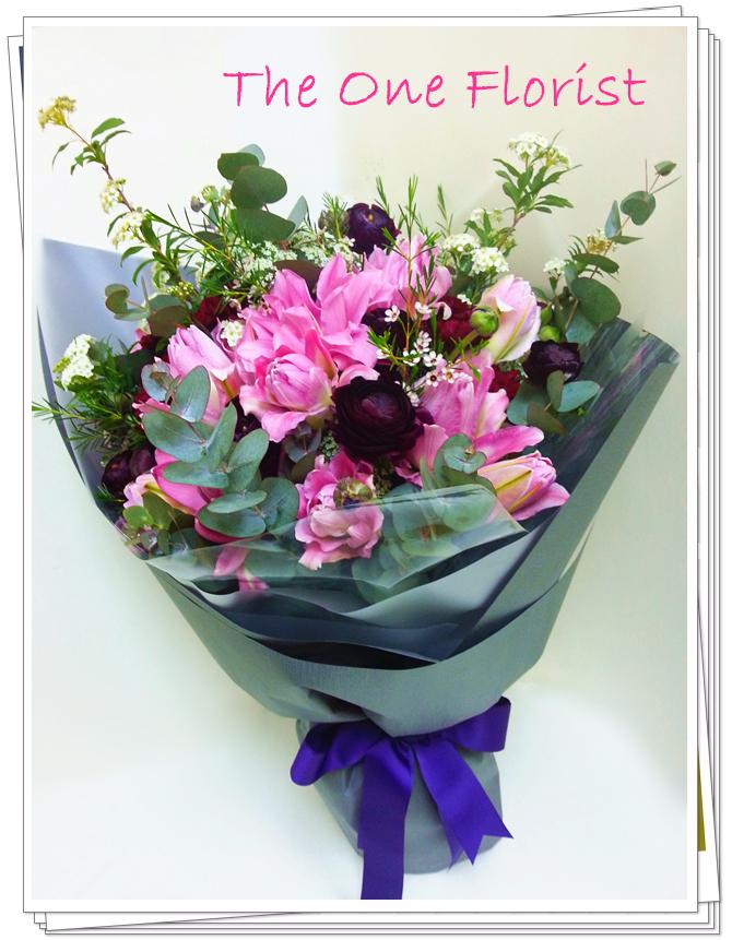荷蘭雙托百合花束 花店訂花(BQ-64)