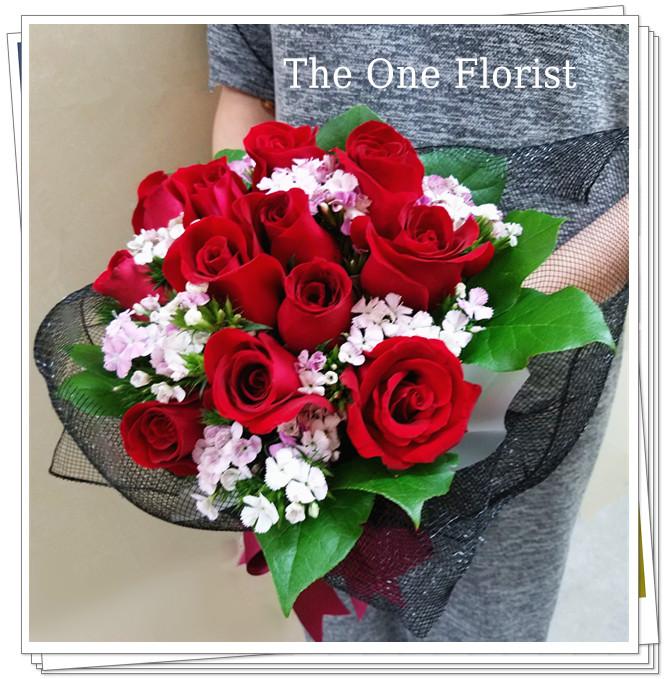 12枝玫瑰小花束 花店訂花(BQ-105)
