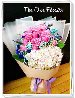 MD-A13 母親節繡球玫瑰花束