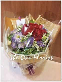 12枝玫瑰桔梗花束 網上花店 (BQ-20)