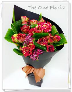 荷蘭雙色玫瑰花束 網上花店 (BQ-72)