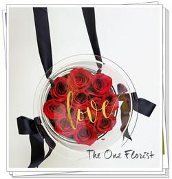 紅玫瑰保鮮花花盒