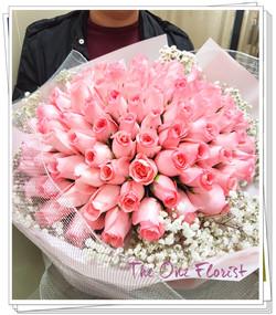 99枝粉紅玫瑰花束 (BQ-136)