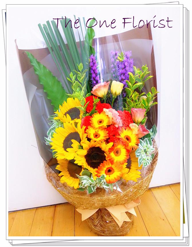 向日葵太陽花花束 網上花店 (BQ-47)