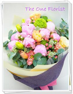 10枝荷蘭牡丹花束 網上花店 (BQ-81)