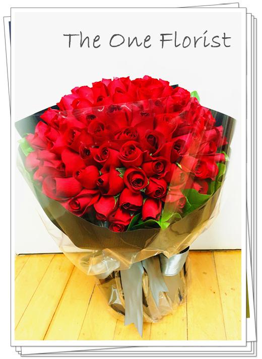 99枝紅玫瑰求婚花束 網上花店(BQ-62)