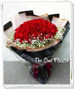 52枝紅玫瑰求婚花束BQ-151