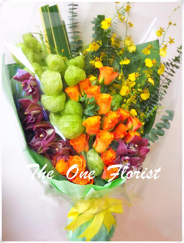 蕙蘭玫瑰花束 網上花店 (BQ-32)